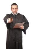 Ernstige mannelijke rechter royalty-vrije stock foto