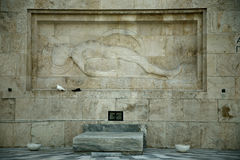 Ernstige onbekende solider in Athene Royalty-vrije Stock Afbeeldingen