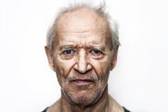 Ernstige oude mens Stock Fotografie