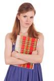 Ernstige student met een notitieboekje in zijn handen Royalty-vrije Stock Afbeelding