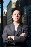Ernstige zakenman royalty-vrije stock fotografie