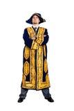 Ernstige Zakenman in Aziatisch nationaal kostuum Royalty-vrije Stock Foto's