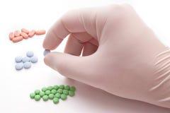 Ernte der blauen Pille Stockbild
