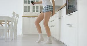 Ernteansicht der Tänzerin Lizenzfreie Stockfotografie