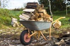 Ernten des Brennholzes Lizenzfreie Stockbilder