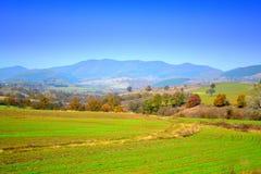 Erntet eben Herbstlandschaft Lizenzfreies Stockfoto