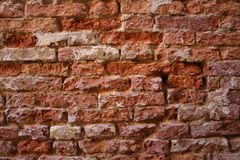 Eroded brick wall Royalty Free Stock Photography