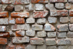 Eroded brick wall Royalty Free Stock Photos
