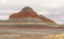 Eroded Butte in the Desert Royalty Free Stock Photography