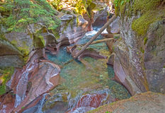 Eroded Canyon from a Mountain Stream Stock Photo