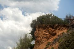 Eroded clay soil slope Royalty Free Stock Photos