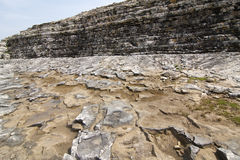 Eroded coastline in Black Sea Stock Images