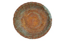 Eroded copper plate Stock Photos