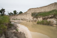 Eroded Creek Geology Stock Photography