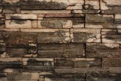 Eroded Decorative Bricks Stock Photos