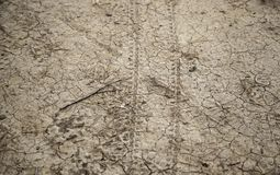 Eroded earth texture stock image