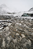 Eroded Environment Athabasca Glacier Royalty Free Stock Images