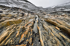 Eroded Environment Athabasca Glacier Stock Photos