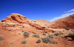 Eroded Fire Wave. Valley of Fire State Park, Nevada royalty free stock images