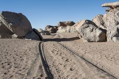 Eroded geological rock formations around Árbol de Piedra, Siloli Desert, Bolivia. South America Royalty Free Stock Photo