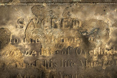 Eroded Gravestone Stock Images