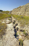 Eroded Gully in the Badlands Royalty Free Stock Photography