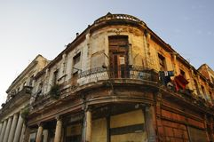Eroded havana building Stock Photography