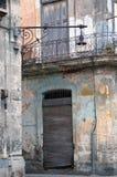 Eroded Havana building detail, cuba royalty free stock photo