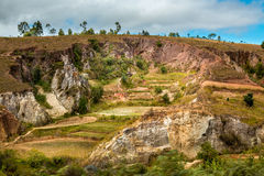 Eroded hills Stock Image