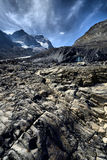 Eroded Landscape Columbia Icefield Stock Images
