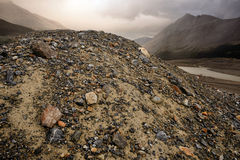 Eroded Landscape Columbia Icefield Royalty Free Stock Photography