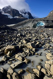 Eroded Landscape Columbia Icefield Royalty Free Stock Image