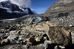 Eroded Landscape Columbia Icefield Stock Image