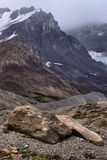 Eroded Landscape Columbia Icefield Royalty Free Stock Photos