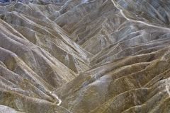 Eroded Landscape - Death Valley, CA Royalty Free Stock Photos