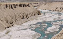 Eroded landscape with river 2 Royalty Free Stock Image