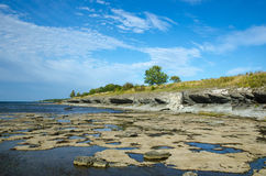 Eroded limestone coast Royalty Free Stock Photo