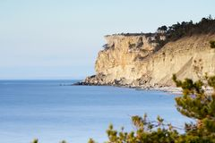 View from Högklint over the eroded limestone coast on the islan Stock Photography