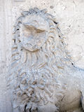 Eroded lion sculpture Stock Photos