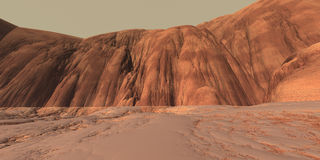 Eroded Mars Highlands Stock Photo