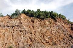 Eroded mountain. The view of eroded mountain Stock Photos