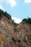 Eroded mountain. The view of eroded mountain Royalty Free Stock Images