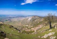 Eroded mountain landscape Stock Photo