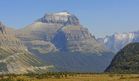 Eroded Mountain From a Mountain Pass Stock Photo