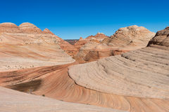 Eroded mountains in arizona in the coyote butte wilderness area Stock Image