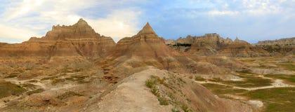 Eroded Mountains of the Badlands, South Dakota Stock Image