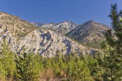 Eroded mountains. Near Lytton in the BC interior of Canada Stock Photo