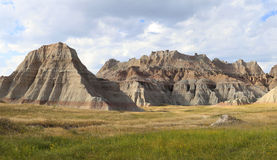 Eroded Mountains of South Dakota's Badlands Royalty Free Stock Images