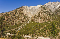 Eroded mountainside and talus slope Royalty Free Stock Photos