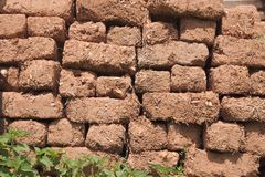 Free Eroded Mud Brick Wall, Serbia Stock Photos - 131031223